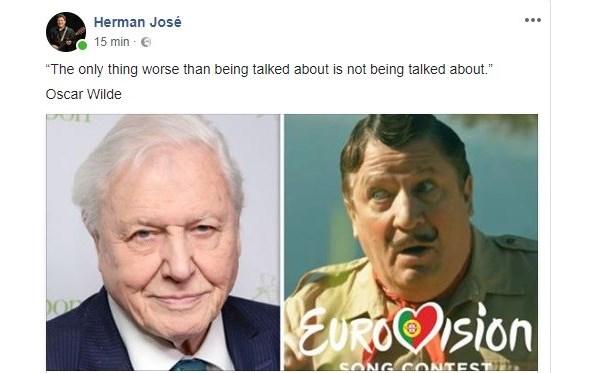 ESC 2018: sketch de Herman José está a irritar os britânicos