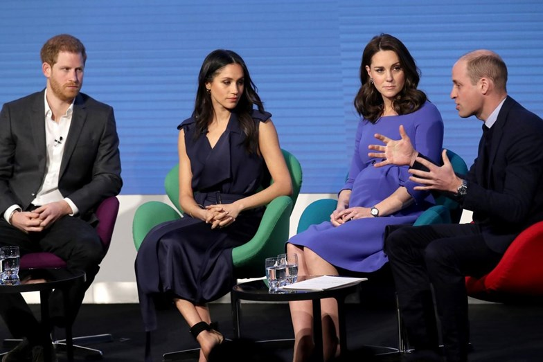 Príncipe Harry, Meghan Markle, Kate Middleton e William