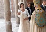 Kate Middleton batizado do príncipe Louis